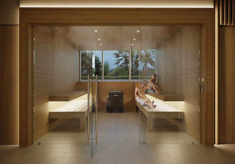 aria reserve miami sauna