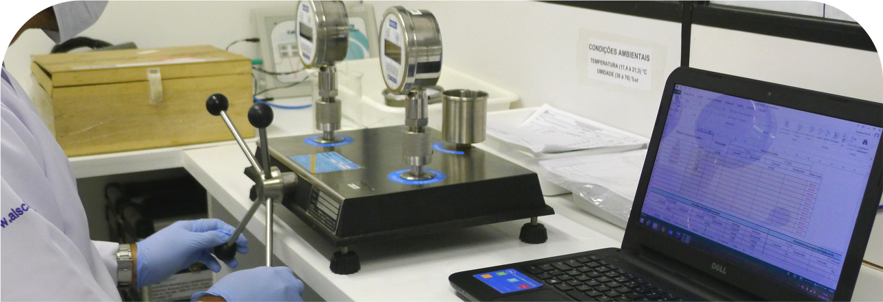 Calibração de pressão Alscience