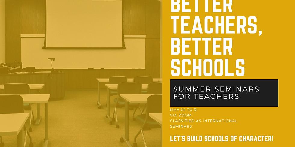 MAY 2021 Seminars for Teachers