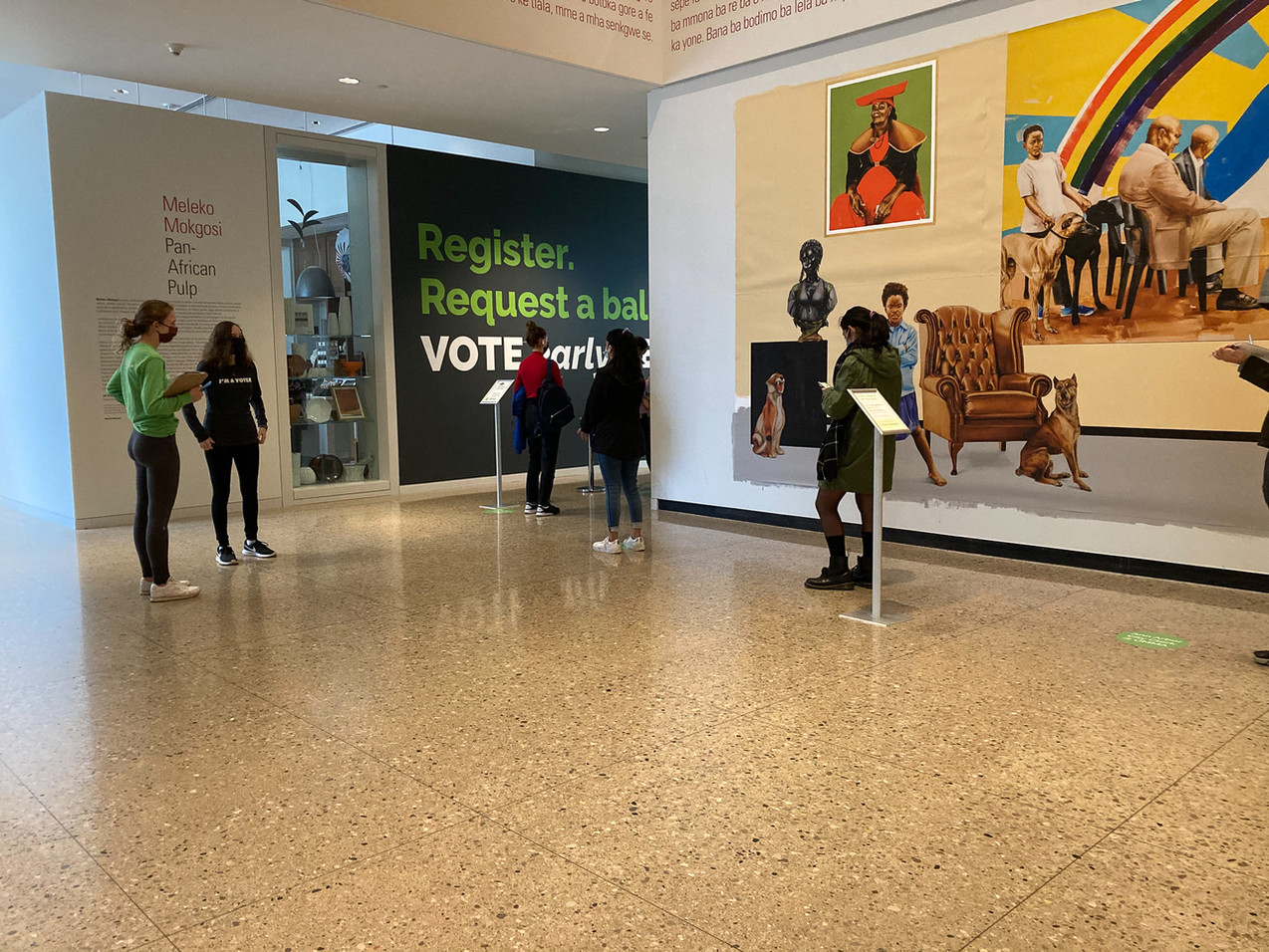 We situated the clerk's office inside an art museum — an unexpected civic space that elevated the experience of voting.