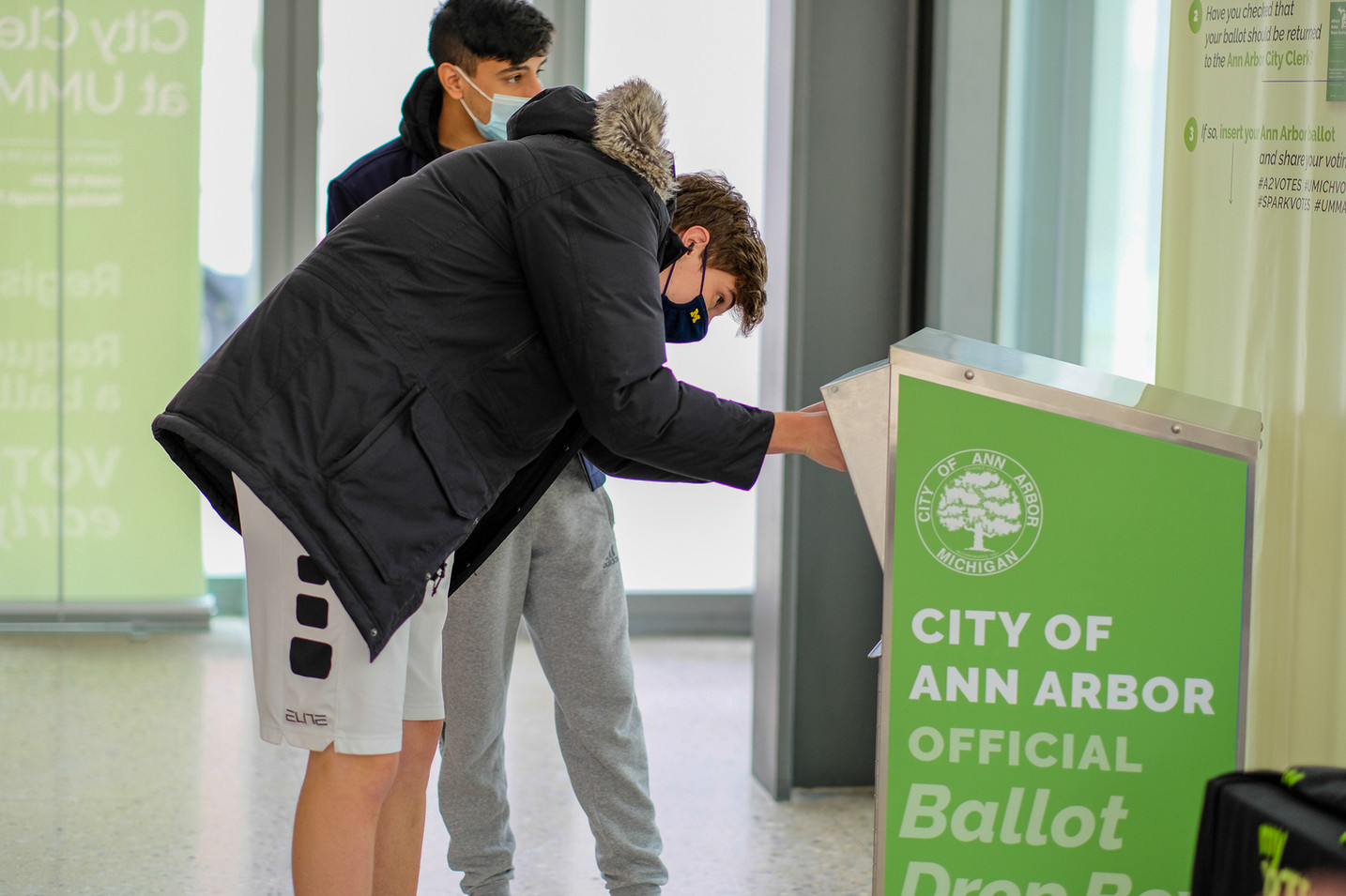 Students could complete the whole voting process — from registering through dropping off their ballot — in one visit.