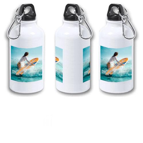 "Botella de agua fría de aluminio de 400 ml ""Con tu foto o dibujo""."