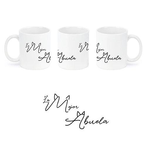 """Taza de cerámica """"La mejor abuela""""."""