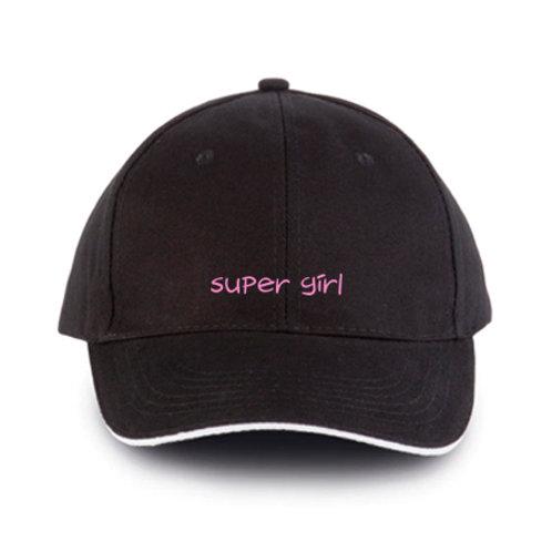 """GORRA DE BÉISBOL """"Super Girl"""" bordada para hombre o mujer."""