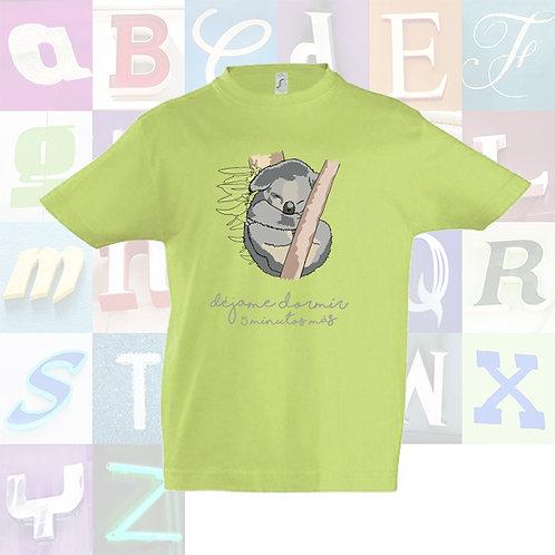 "Camiseta infantil unisex color de algodón de manga corta ""Koala""."