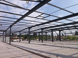 Charpente Metallique Région Centre Eure et Loir Chartres- Batiment commercial 2000 metres carrés - l'Aigle