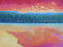 Peach Colored Pond
