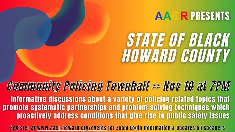 AACR State of Black Howard TeleTown Hall