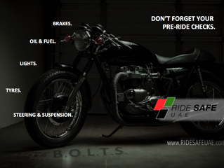 Don't forget your pre-ride checks!