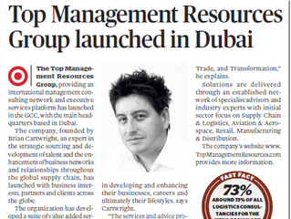 Logistics Middle East Magazine - Top Management Resources Group Launched in Dubai