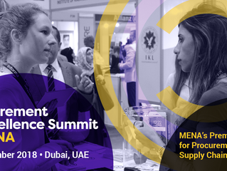 MENA Procurement Excellence Summit - 5th to 8th November 2018 - Dubai
