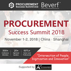 Procurement Success Summit 2018 - November 1st & 2nd - Shanghai