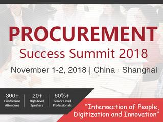 Procurement Success Summit 2018 - November 1st & 2nd - Shanghai