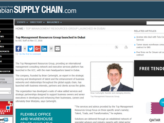 Arabian Supply Chain - Top Management Resources Group Launched In Dubai