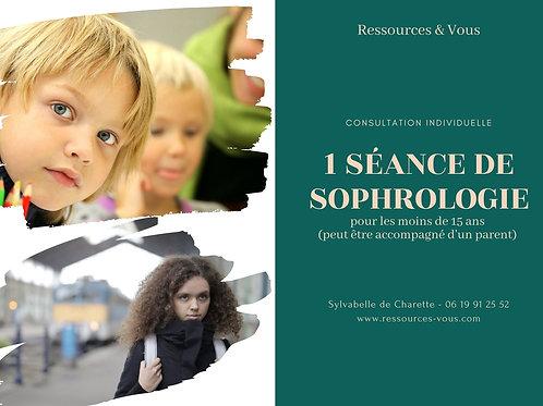1 séance de Sophrologie pour les moins de 15 ans - 1h