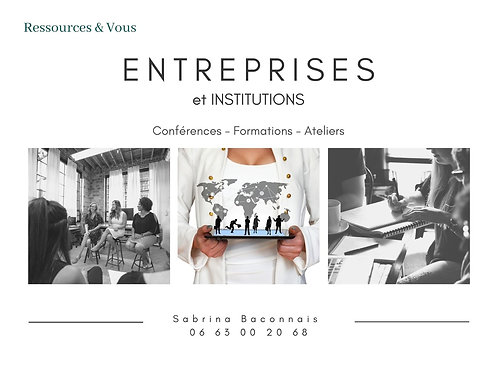 Conférence - Formations - Ateliers