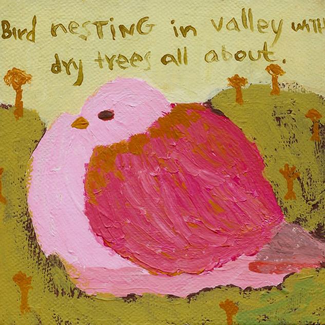 Nesting. Acrylic on canvas, 2011.