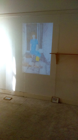 A video projection and monotypes installed at 'House Party' in 2018.