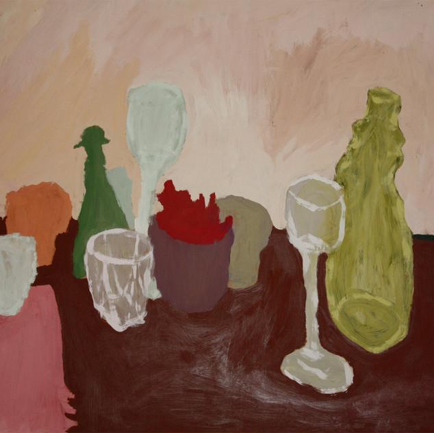Drinkies. Acrylic on MDF, 2011.