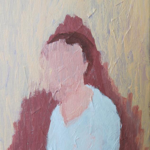 Self Portrait. Acrylic on canvas, 2012.