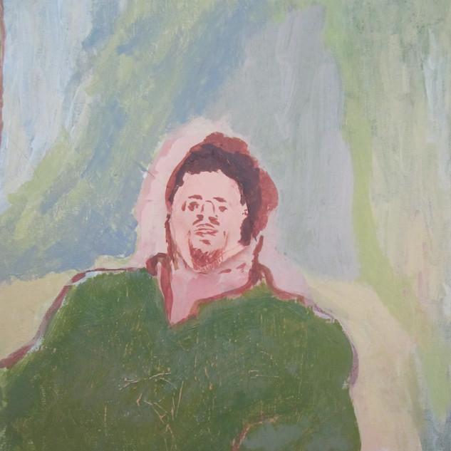 Tom. Acrylic on canvas, 2012.