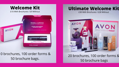 Fabulous New Starter Kits Now Available when you Join Avon in the UK