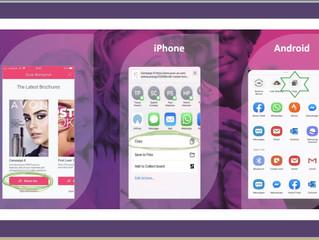 How to share Your Online Avon Brochure via your AvonOn app
