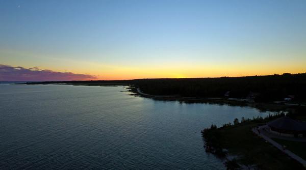 Straights of Macinac Sunset1