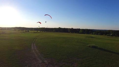Powered chute take off