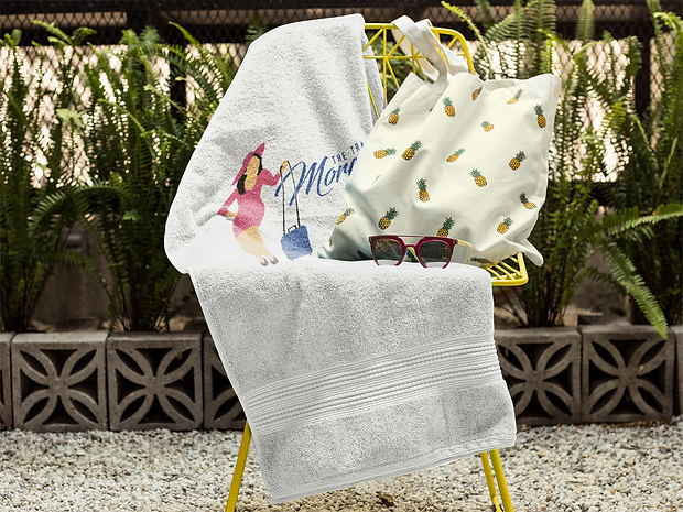 towel-mockup-on-a-chair-with-a-pineapple