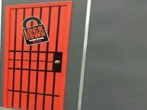 Mobile Escape Room Unit Door Decal with Your Logo