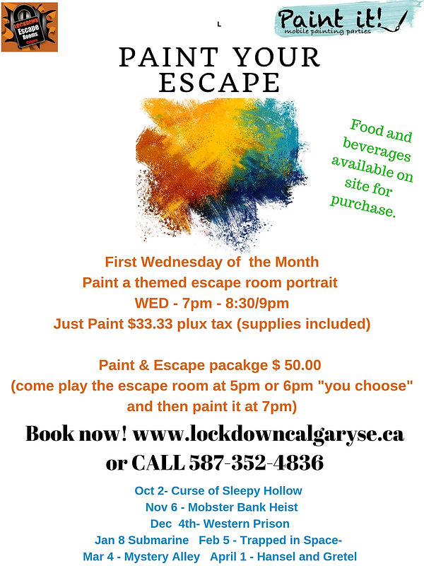 Lockdown Calgary Paint Your Escape Night
