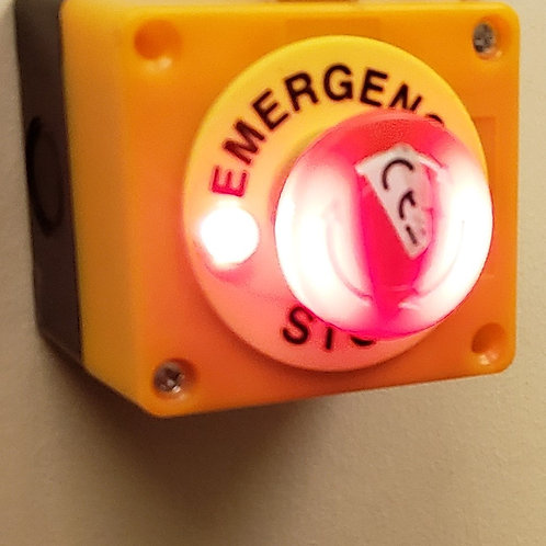 Emergency Stop Button with indicator lights