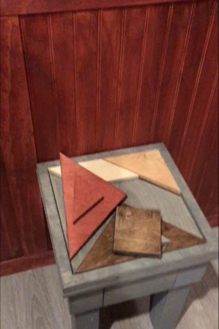 Shape Puzzle - wood stained with table or painted