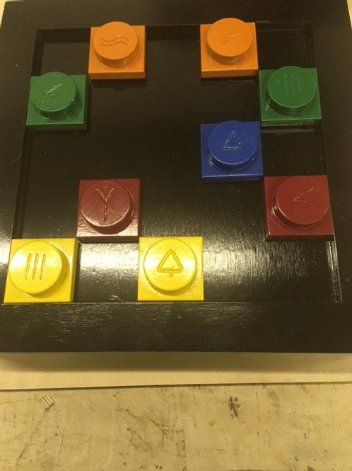 Colored 5 Symbol Puzzle