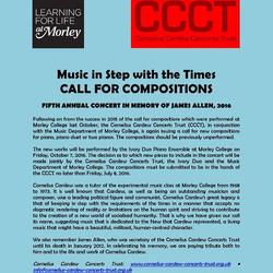 Cornelius Cardew Concerts Trust Call