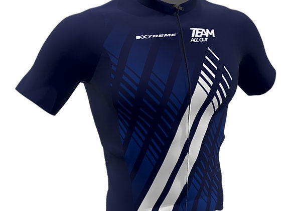 Navy cycling jersey TeamAllOut