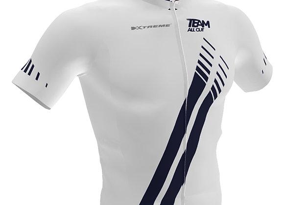 White cycling jersey TeamAllOut