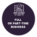 Icon Full or Part Time Business Purple.p