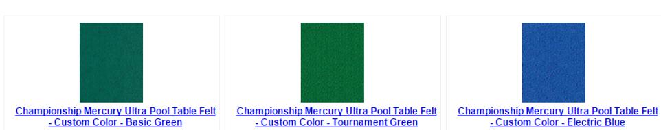 Mercury Ultra Pool Table Felt