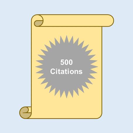 500 Citations Milestone