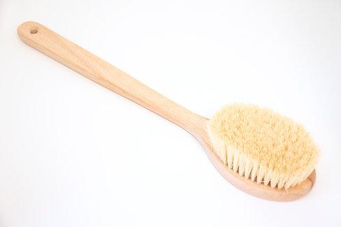 Четка за сухо четкане и баня с фиксирана дръжка