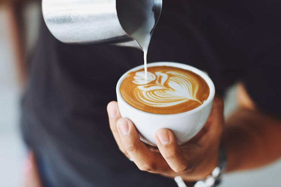 Kaffeecatering mit Latte Art
