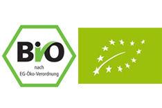 Bio-Siegel und EU-Bio-Logo
