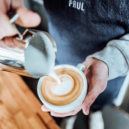 Latte Art vom Barista