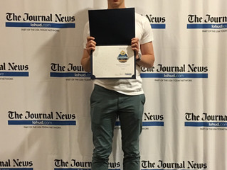 Richard Muratore nominated for The Journal News Rockland Scholar-Athlete award.