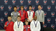 Brian Park medals at the March National Cup.