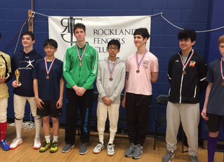 Michael Kang and Jeffrey Levy medals at the Rockland Regional Junior and Cadet Circuit
