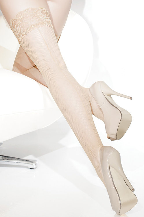 COQUETTE | Fishnet Stockings with Lace