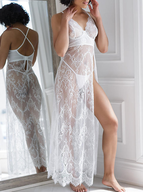 COQUETTE | Eyelash Lace Gown